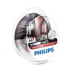 Автомобильные лампы Philips Vision Plus H7 +60%