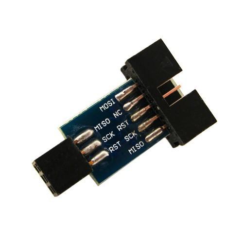 10 на 6 pin переходник, ATMEL AVRISP USBASP STK500, 100002