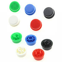 10x Колпачок круглый тактовой кнопки микрика 12мм, цвета, 102383