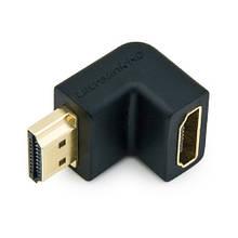 Адаптер HDMI - HDMI, мама-папа, угловой переходник 90, 100581