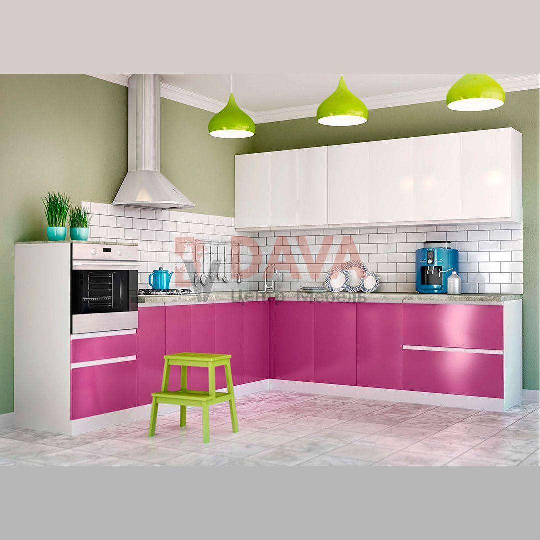 Кухня современного стиля Киевский Стандарт. Крашенные фасады МДФ. Набор 11