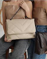 Женская сумка кроссбоди женские клатчи бежевые сумки женские модные  современные, фото 1