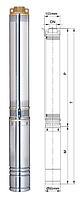 Насос скважинный центробежный Aquatica 3.5SDm3/14 ( 0,75 кВт., 80 л/мин)