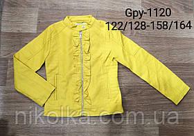 Куртки кожзам для девочек оптом, Glo-story, 122/128-158/164 рр., арт. GPY-1120