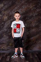 Біла футболка для хлопчика зання SmileTime Independents