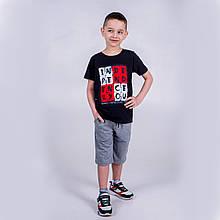 Стильна чорна футболка SmileTime для хлопчика Independents, чорна