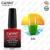Термо гель-лак Canni №341 (зеленый - оранжевый) , 7,3 мл