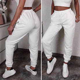 Бежеві спортивні штани джогеры (Код MF-502)
