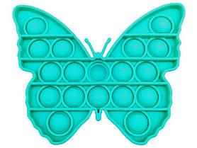 Антистрес сенсорна іграшка Pop It Метелик Бірюзова