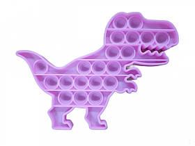 Антистрес сенсорна іграшка Pop It Динозавр Рожевий