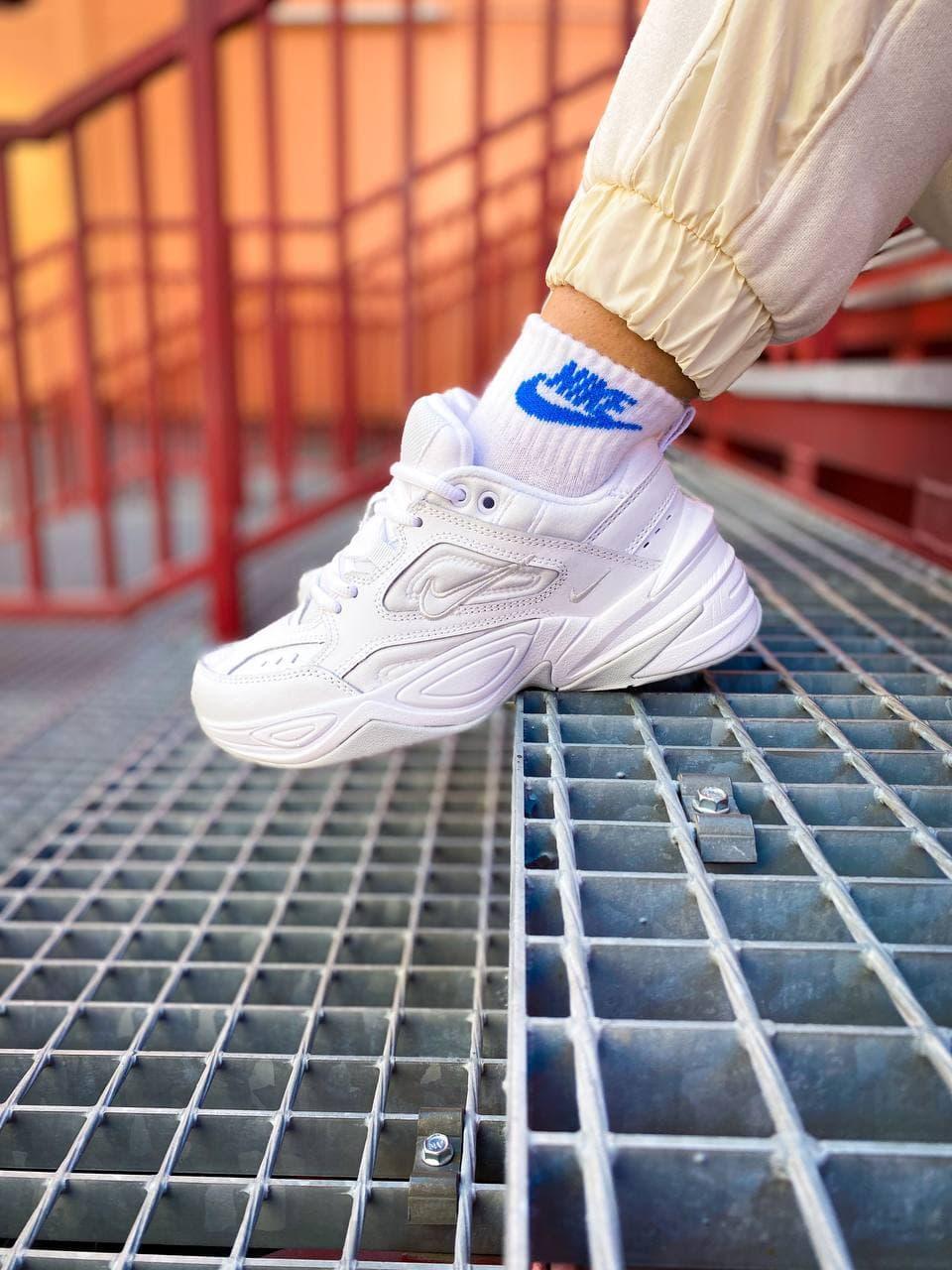 Женские кроссовки Nike M2K Tekno (белые) стильная легкая весенняя обувь К1254
