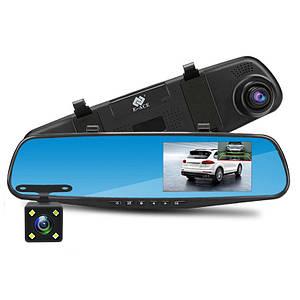 Автомобільний відеореєстратор дзеркало DVR 138 Full HD Авто реєстратор у машину, Двокамерний автореєстратор