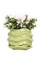Горшок цветочный ETERNA PT 201-0,9 FG  свежая зелень (13*13*9 см)