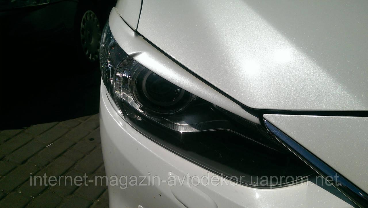 Ресницы на передние фары Mazda 6 2013-