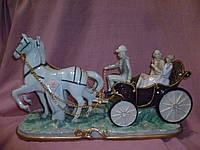 Карета с лошадьми - упряжка статуэтка 45 сантиметров длина