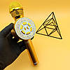 Бездротової Bluetooth мікрофон-караоке WS-669, золотий, фото 2