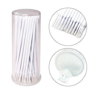 Микробраши для наращивания и снятия ресниц, 100 штук Белый