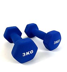 Гантели для фитнеса 2х3 кг. с виниловым покрытием
