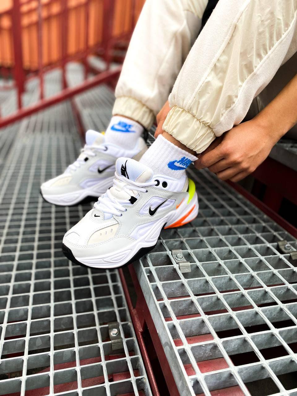 Жіночі Nike M2K Tekno (бежеві) стильне якісне шкіряне взуття К1608