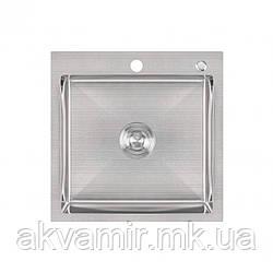 Мойка Lidz H5050 Brush 3.0/1.0 mm на/под столешницу (нерж. сталь)