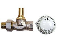Кран термостат для теплого пола RTL (прямой)