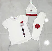 Дитячий костюм Туніка+капрі+шапочка CHIC для дівчинки 2-5 років,колір уточнюйте при замовленні, фото 1