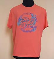 Мужская футболка из стрейч- кулира коралловая