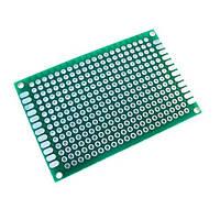 PCB 4x6 см двухсторонняя печатная плата, 102873