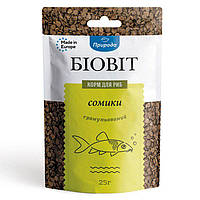 Сухой корм для аквариумных рыб Природа в гранулах Биовит «Сомики» 25 г (для донных рыб)