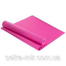 Коврик для фитнеса и йоги PVC 4мм SP-Planeta FI-4986 цвета в ассортименте, Розовый