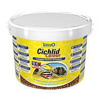 Сухой корм для аквариумных рыб Tetra в гранулах «Cichlid Colour» 10 л (для всех цихлид)