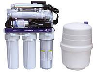 6-ступенчатая система обратного осмоса Aqua-World с насосом и ультрафиолетовой лампой