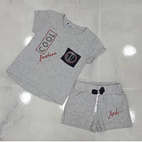 Дитячий костюм футболка+шорти COOL для дівчинки 2-5 років,колір уточнюйте при замовленні, фото 1
