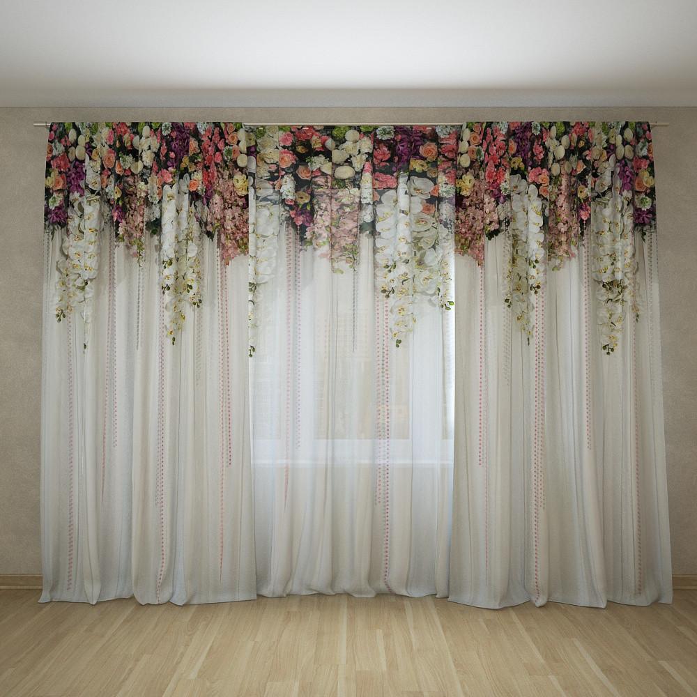 Фотошторы і фототюль арка з квітів