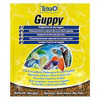Сухой корм для аквариумных рыб Tetra в хлопьях «Guppy» 12 г (для гуппи)