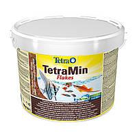 Сухой корм для аквариумных рыб Tetra в хлопьях «TetraMin» 10 л (для всех аквариумных рыб)