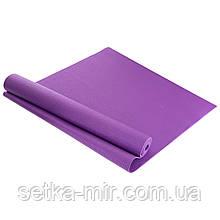 Коврик для фитнеса и йоги PVC 4мм SP-Planeta FI-4986 цвета в ассортименте, Сиреневый