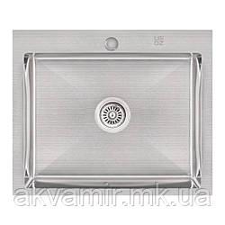 Мойка Lidz H6050 Brush 3.0/1.0 mm на/под столешницу (нерж. сталь)