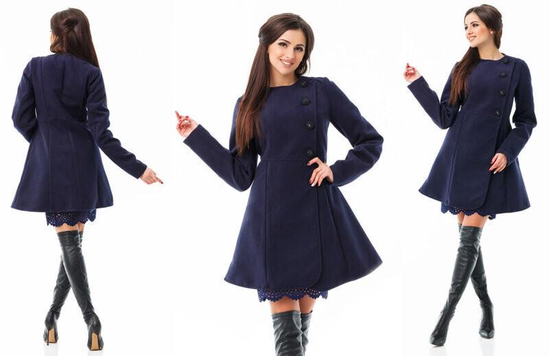 """Невероятно красивое женское Пальтишко на подкладке, ткань """"Кашемир"""" размер 46"""