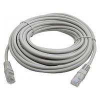 Патч-корд RJ45 9м, мережевий кабель UTP CAT5e 8P8C, LAN, синій, 105318
