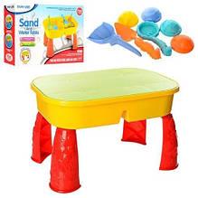 Ігровий столик-пісочниця з пасочками і лопаткою