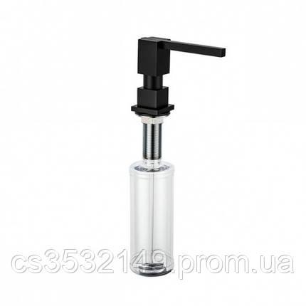 Дозатор для жидкого мыла встраиваемый в столешницу Gappo G404-1 Черный 300мл, фото 2