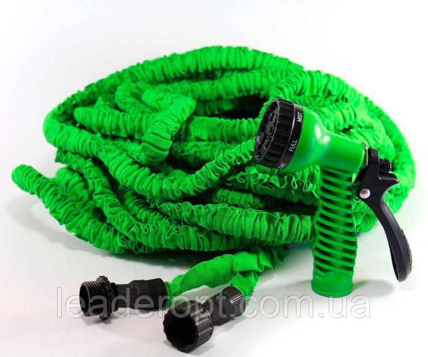 Шланг поливальний гнучкий розтягується для саду і городу гармошкою з розпилювачем MAGIC HOSE 200FT 60м ОПТ