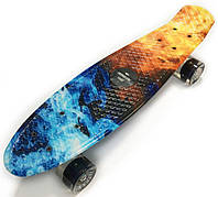 Пенниборд скейтборд скейт Penny Board светящиеся колёса
