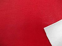 Кожа - стрейч на флисе (красный) (арт. 0829)