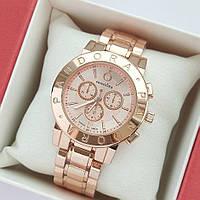 Женские кварцевые наручные часы Pandora Premium в розовом золоте, хронографы - код 1988, фото 1