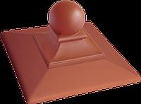 Крышка для столба забора клинкерная King Klinker Royal (01) Ruby-red