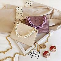Жіноча стильна сумка на ланцюжку, фото 1