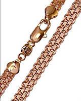 Цепочка Xuping. Плетение Бисмарк. Золото (розовое покрытие)  50 см х 5,5 мм