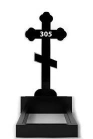 Замовити хрест з граніту на могилу (100-50-5) №305